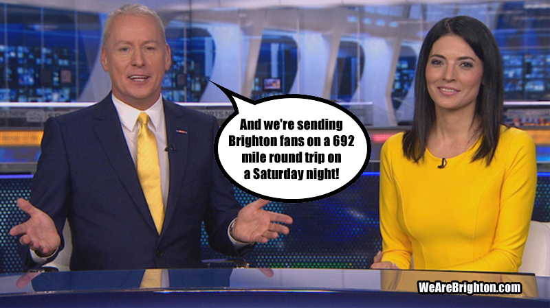 Sky Sports give Brighton a 692 mile round trip on a Saturday night